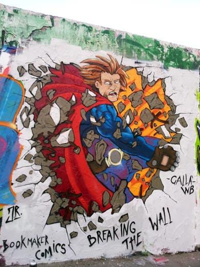Land of the brave sul muro di berlino quale cefal - Disegnare sul muro di casa ...